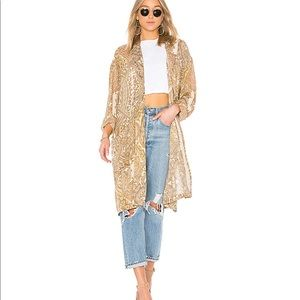 Free People Half Moon Duster in Ivory Medium